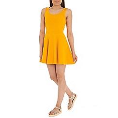 Damned Delux - Orange windsor skater dress