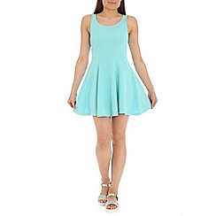 Damned Delux - Turquoise windsor skater dress