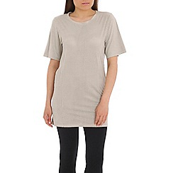 Damned Delux - Grey may suedette tunic