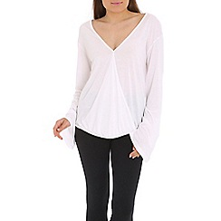 Damned Delux - White halah top