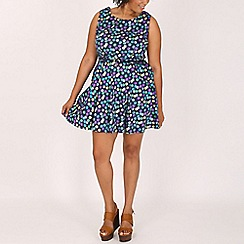 Samya - Blue polkadot dress