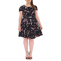 Samya - Pink flower and bird print dress