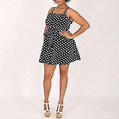 Samya - Blue polka dot dress