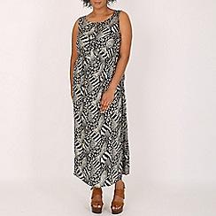 Samya - Black printed maxi dress