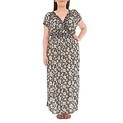 Samya - Black printed maxi dress
