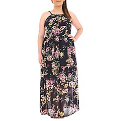 Samya - Multicoloured flower printed maxi dress