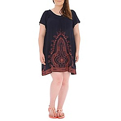Samya - Navy multi coloured dress