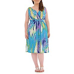 Samya - Multicoloured abstract printed dress