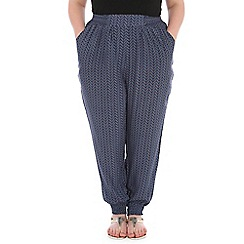 Samya - Blue patterned harem pants