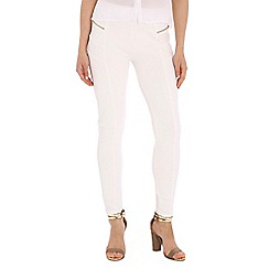 Damned Delux - White zip legging