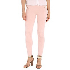 Damned Delux - Pink leggings with zip pockets