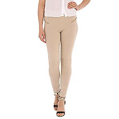 Damned Delux - Taupe leggings with zip pockets