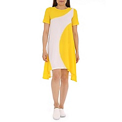 Damned Delux - Yellow panda swing dress in crepe