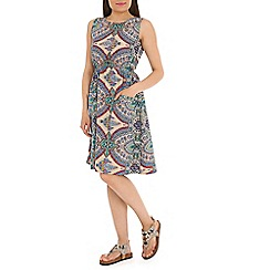 Mela - Multicoloured mosaic print dress