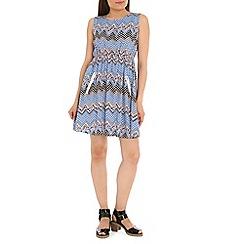 Mela - Blue zig zag dress