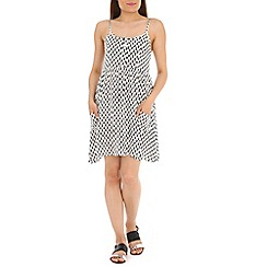 Mela - White heart print dress