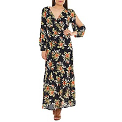 Mela - Navy tropical print maxi