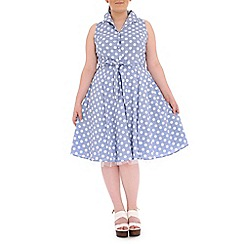 Samya - Light blue polka dot layered dress