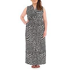 Samya - Black geo print wrap dress