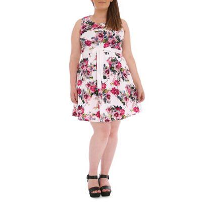 Samya Pink floral skater dress - . -