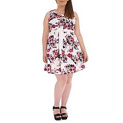 Samya - Pink floral skater dress