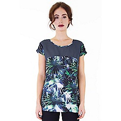 Wolf & Whistle - Multicoloured palm print panelled top