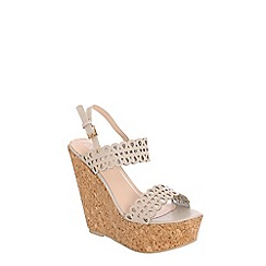 Alice & You - Beige platform wedge sandals