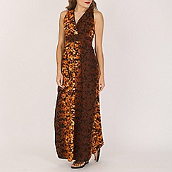 Indulgence - Brown printed maxi dress