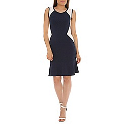 Indulgence - Navy panel dress