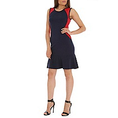 Indulgence - Red panel dress