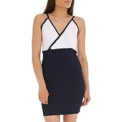 Indulgence - Navy strap dress