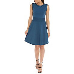 Indulgence - Dark blue skater dress