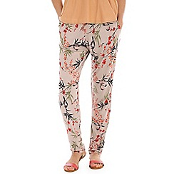 Indulgence - Multicoloured bird print trousers