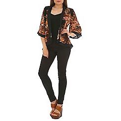 Mela - Black printed kimono