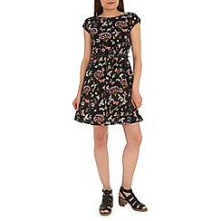 Mela - Black summer print dress