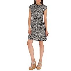 Mela - Navy paisley print dress