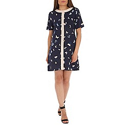 Ayarisa - Navy flutter sleeve nicole shift dress
