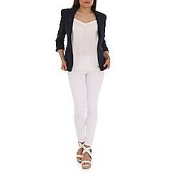 Jolie Moi - Navy 3/4 sleeve open front blazer