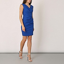 Izabel London - Blue sleeveless plain pleated
