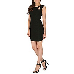 Mandi - Black sleeveless plain black dress