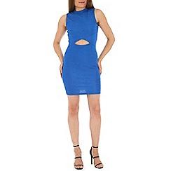 Madam Rage - Blue cut out bodycon dress