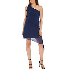 Madam Rage - Blue one shoulder asym dress