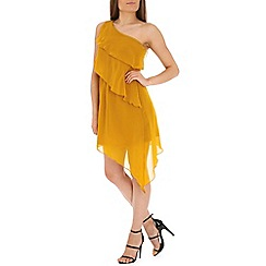 Madam Rage - Mustard one shoulder asym dress