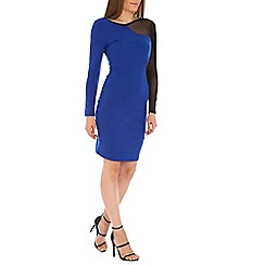 Madam Rage - Blue mesh bodycon dress