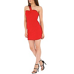 Madam Rage - Red one shoulder sequin bodycon