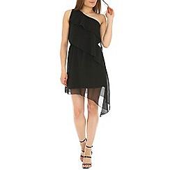 Madam Rage - Black one shoulder asym dress