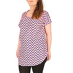 Samya - Pink neon zig zag print dress