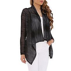 Izabel London - Grey full sleeve knitted cardigan