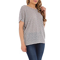 Izabel London - Light grey textured top
