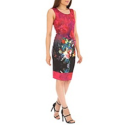 Amaya - Mid rose floral print scuba dress